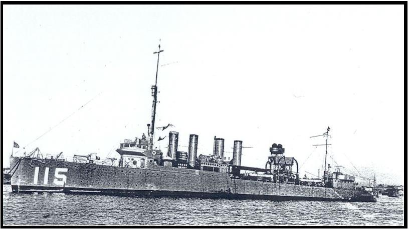 Destroyer USS Waters J. B. Clark served aboard 1918-1919