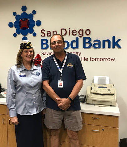 Desirae Smidt volunteers at the San Diego Blood Bank and gives blood to help out those in need