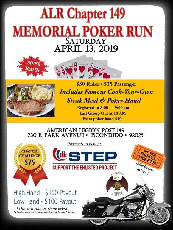 ALR 149 Memorial Poker Run 4-13-19