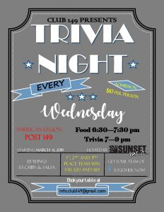 Trivia Night at Post 149