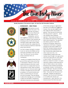 Page 1 - May 2019 Post 149 Newsletter