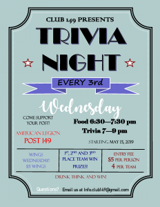 Trivia Night Flyer (3rd Wed)