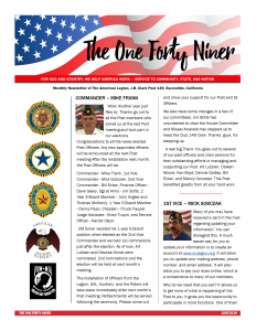 June 2019 Newsletter Page 1 Post 149