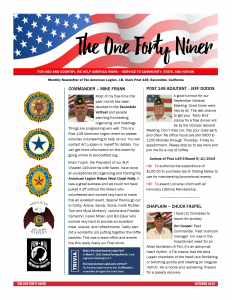 Page 1 October 2019 Newsletter Post 149