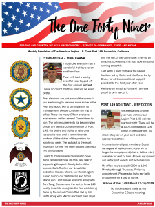 Page 1 Post 149 Newsletter
