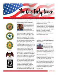 Page 1 October 2020 Newsletter