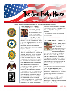 Page 1 March 2021 Newsletter